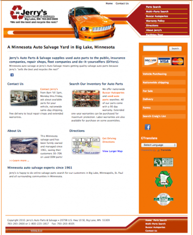 Jerry's auto salvage home page
