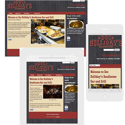 Doc Holliday responsive web site