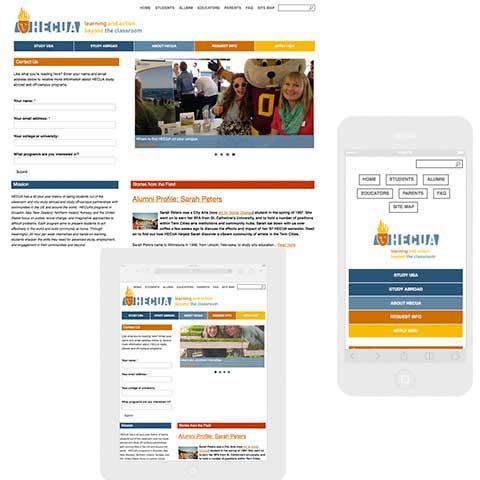 Hecua responsive web site