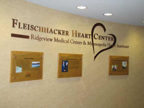 picture of Ridgeview hospital heart wall