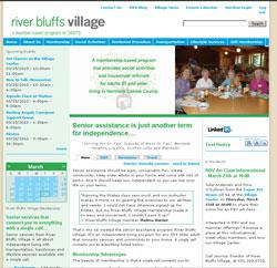 website screen grab blue and green color scheme